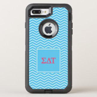 Sigma Delta Tau   Chevron Pattern OtterBox Defender iPhone 8 Plus/7 Plus Case