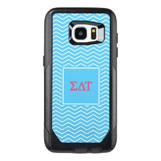 Sigma Delta Tau   Chevron Pattern OtterBox Samsung Galaxy S7 Edge Case