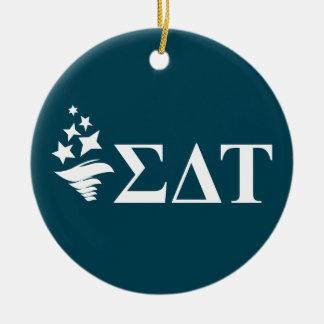Sigma Delta Tau | Lil Big Logo Ceramic Ornament