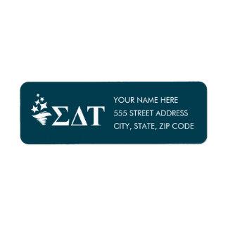 Sigma Delta Tau | Lil Big Logo Return Address Label