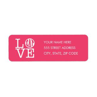 Sigma Delta Tau | Love Return Address Label