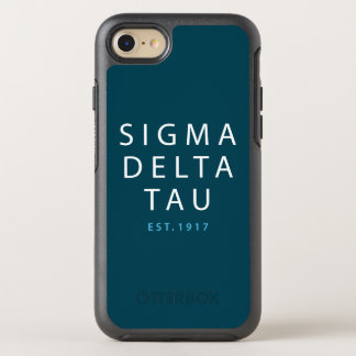 Sigma Delta Tau | Modern Type OtterBox Symmetry iPhone 8/7 Case