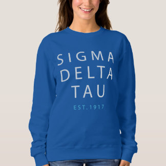 Sigma Delta Tau | Modern Type Sweatshirt