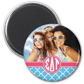 Sigma Delta Tau   Monogram and Photo Magnet