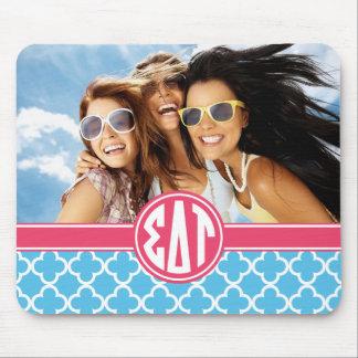 Sigma Delta Tau   Monogram and Photo Mouse Pad