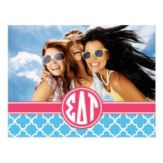 Sigma Delta Tau | Monogram and Photo Postcard