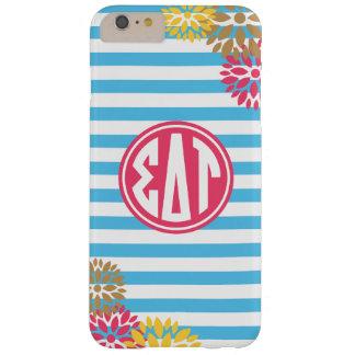 Sigma Delta Tau   Monogram Stripe Pattern Barely There iPhone 6 Plus Case