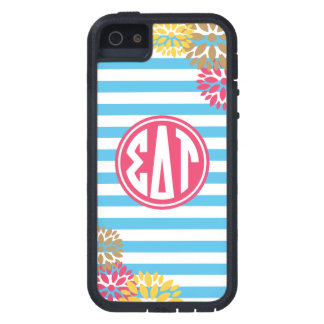 Sigma Delta Tau   Monogram Stripe Pattern Case For iPhone 5