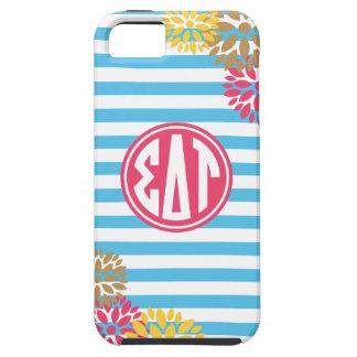Sigma Delta Tau   Monogram Stripe Pattern iPhone 5 Cases