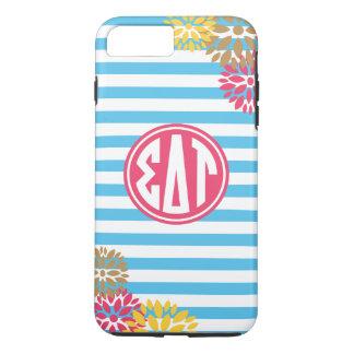 Sigma Delta Tau   Monogram Stripe Pattern iPhone 8 Plus/7 Plus Case