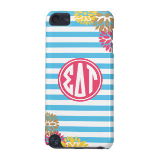 Sigma Delta Tau | Monogram Stripe Pattern iPod Touch 5G Case