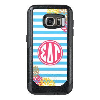 Sigma Delta Tau | Monogram Stripe Pattern OtterBox Samsung Galaxy S7 Case