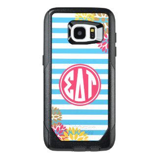 Sigma Delta Tau | Monogram Stripe Pattern OtterBox Samsung Galaxy S7 Edge Case