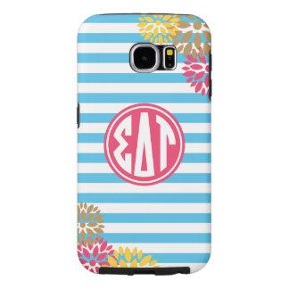 Sigma Delta Tau   Monogram Stripe Pattern Samsung Galaxy S6 Cases