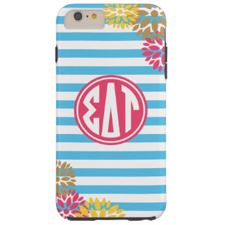 Sigma Delta Tau   Monogram Stripe Pattern Tough iPhone 6 Plus Case