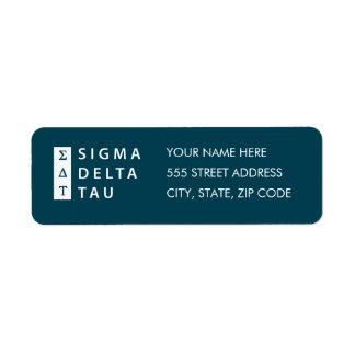 Sigma Delta Tau | Stacked Return Address Label