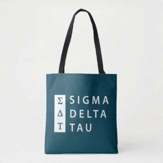 Sigma Delta Tau | Stacked Tote Bag