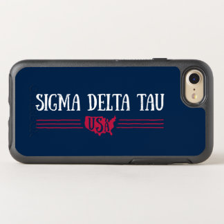 Sigma Delta Tau | USA OtterBox Symmetry iPhone 8/7 Case