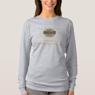 Sigma Gamma Nu 45th Long Sleeve Gld Ltr. T-Shirt