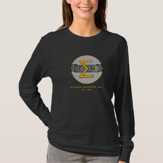 Sigma Gamma Nu Long Sleeve Shirt (gold letters)
