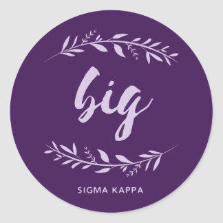 Sigma Kappa Big Wreath Classic Round Sticker