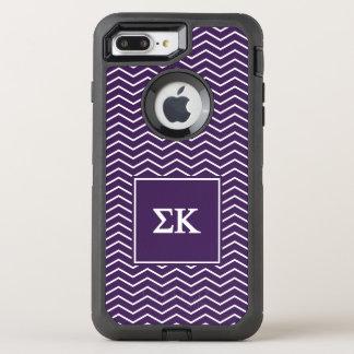 Sigma Kappa | Chevron Pattern OtterBox Defender iPhone 8 Plus/7 Plus Case