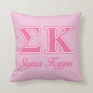 Sigma Kappa Light Pink Letters Cushion