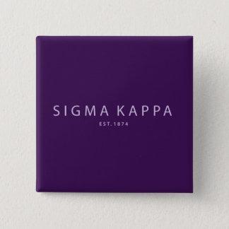 Sigma Kappa Modern Type 15 Cm Square Badge