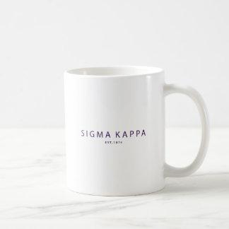 Sigma Kappa Modern Type Coffee Mug