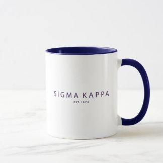 Sigma Kappa Modern Type Mug