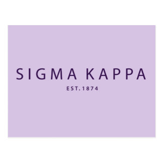 Sigma Kappa Modern Type Postcard