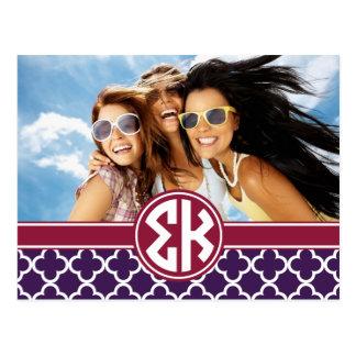 Sigma Kappa | Monogram and Photo Postcard