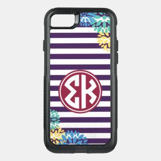 Sigma Kappa | Monogram Stripe Pattern OtterBox Commuter iPhone 8/7 Case