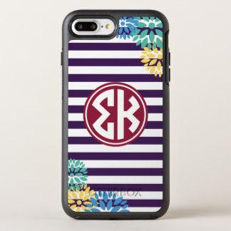 Sigma Kappa | Monogram Stripe Pattern OtterBox Symmetry iPhone 8 Plus/7 Plus Case