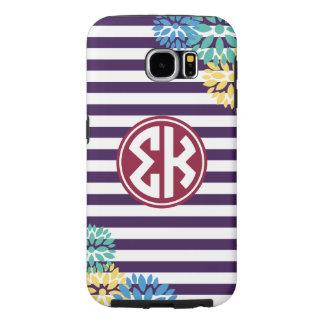 Sigma Kappa | Monogram Stripe Pattern Samsung Galaxy S6 Cases