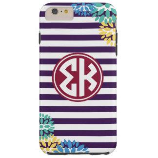 Sigma Kappa   Monogram Stripe Pattern Tough iPhone 6 Plus Case