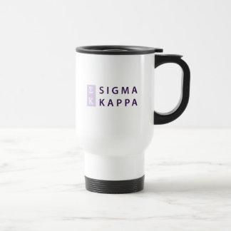Sigma Kappa Stacked Travel Mug