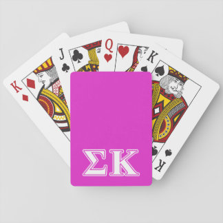 Sigma Kappa White and Lavender Letters Playing Cards