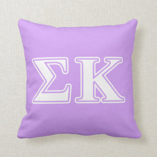 Sigma Kappa White and Pink Letters Cushion