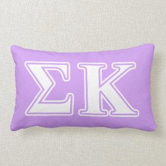 Sigma Kappa White and Pink Letters Lumbar Cushion