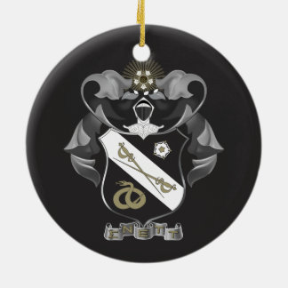 Sigma Nu Crest Ceramic Ornament
