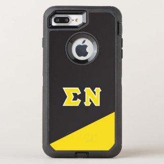 Sigma Nu   Greek Letters OtterBox Defender iPhone 8 Plus/7 Plus Case