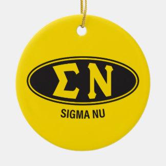 Sigma Nu   Vintage Ceramic Ornament