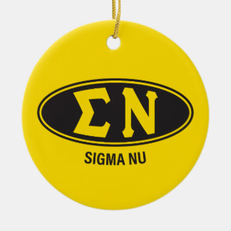 Sigma Nu | Vintage Round Ceramic Decoration