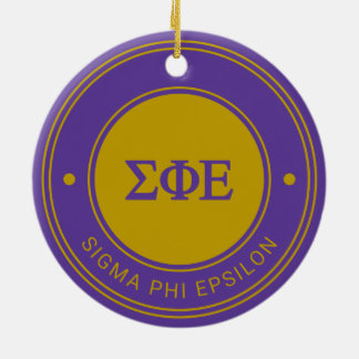 Sigma Phi Epsilon | Badge Ceramic Ornament