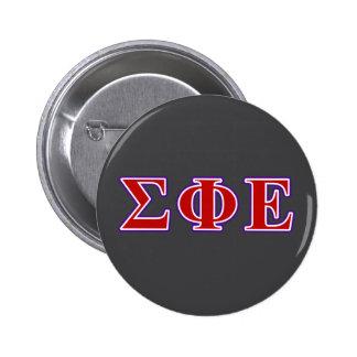 Sigma Phi Epsilon Purple and Red Letters 6 Cm Round Badge