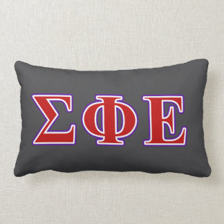 Sigma Phi Epsilon Purple and Red Letters Lumbar Cushion