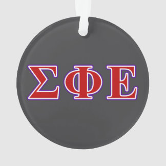 Sigma Phi Epsilon Purple and Red Letters Ornament