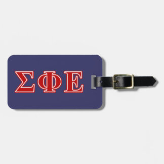 Sigma Phi Epsilon Red Letters Luggage Tag