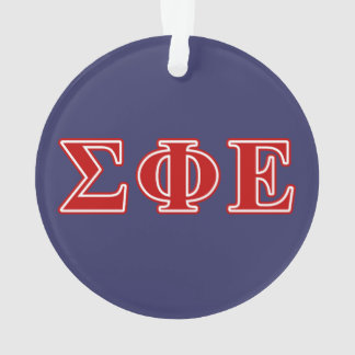 Sigma Phi Epsilon Red Letters Ornament